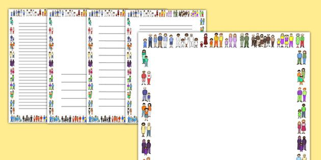 My Family Page Borders - Page border, border, writing template - writing template