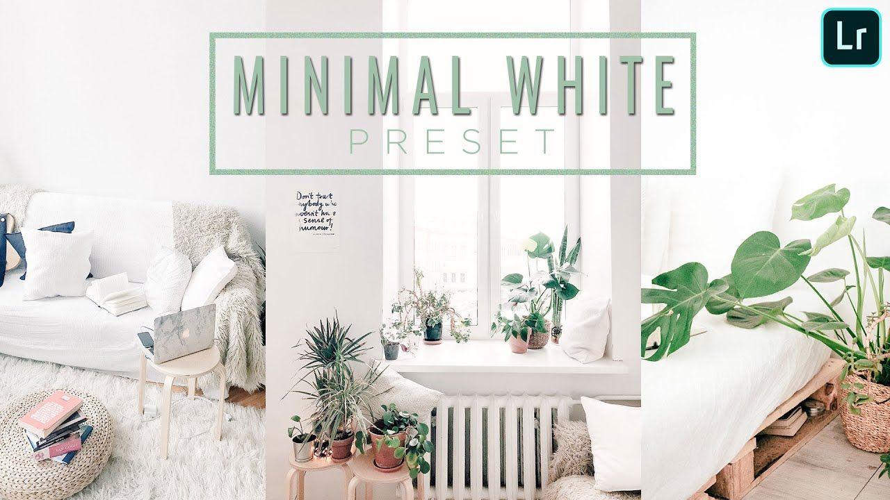 Minimal White Preset Adobe Lightroom Mobile IOS Android