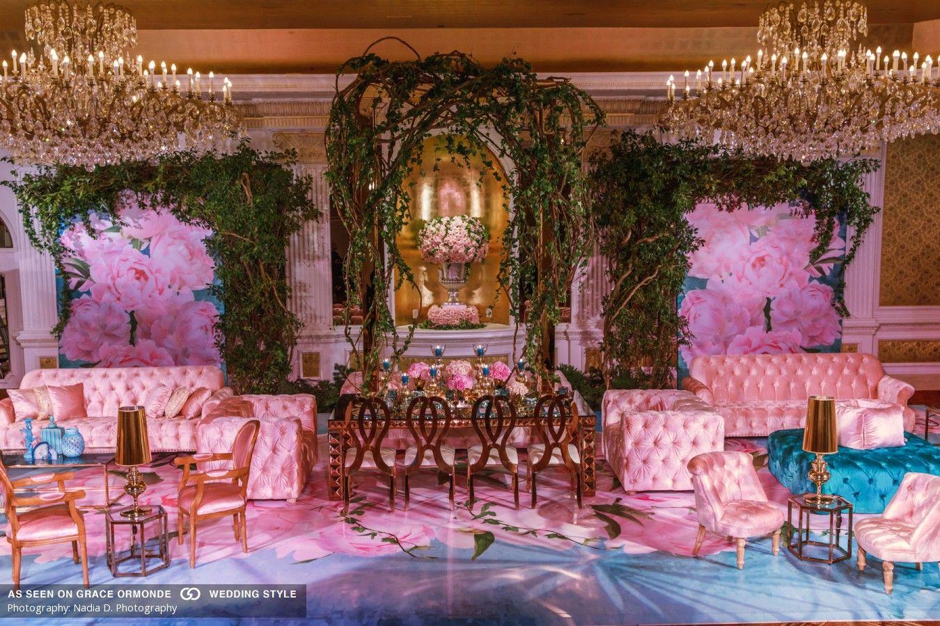 Garden City Hotel Enchanted Garden Wedding Photo Shoot Design