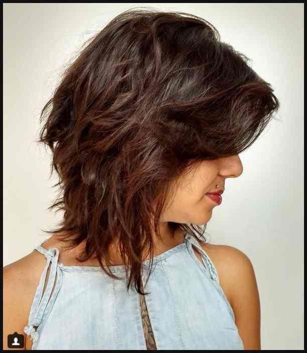 shaggy medium bob haircuts 2018-2019