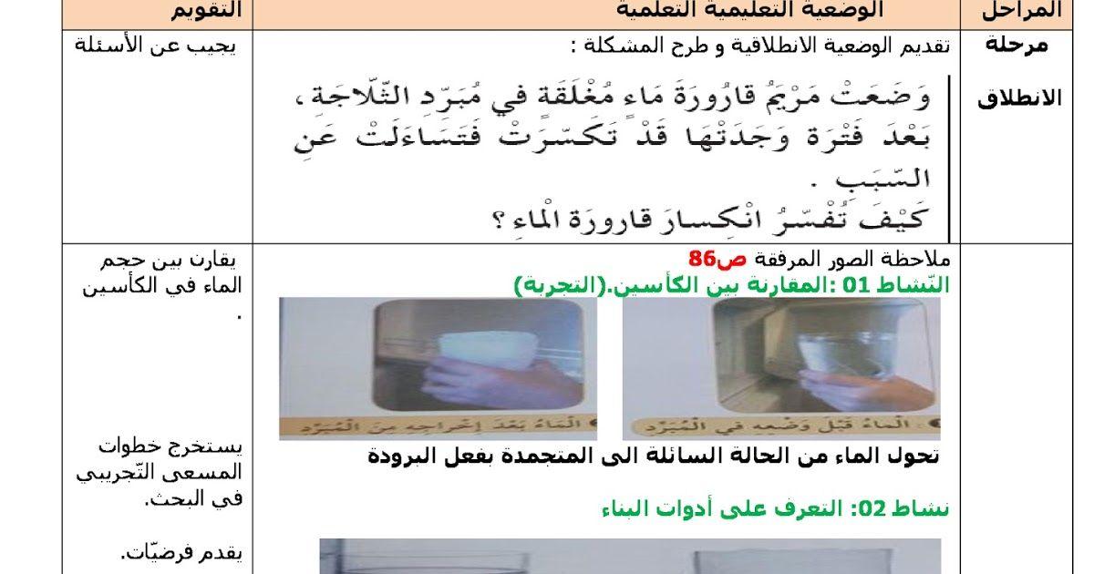 مذكرات مادة التربية العلمية والتكنولوجية الاسبوع 24 المقطع 3 الشاقول و الافق السنة الرابعة ابتدائي الجيل الثاني Education Memorandum Algiers