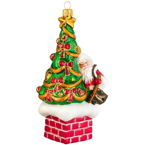 Joy to the World Collectibles 'St. Nick Atop the Chimney' Ornament