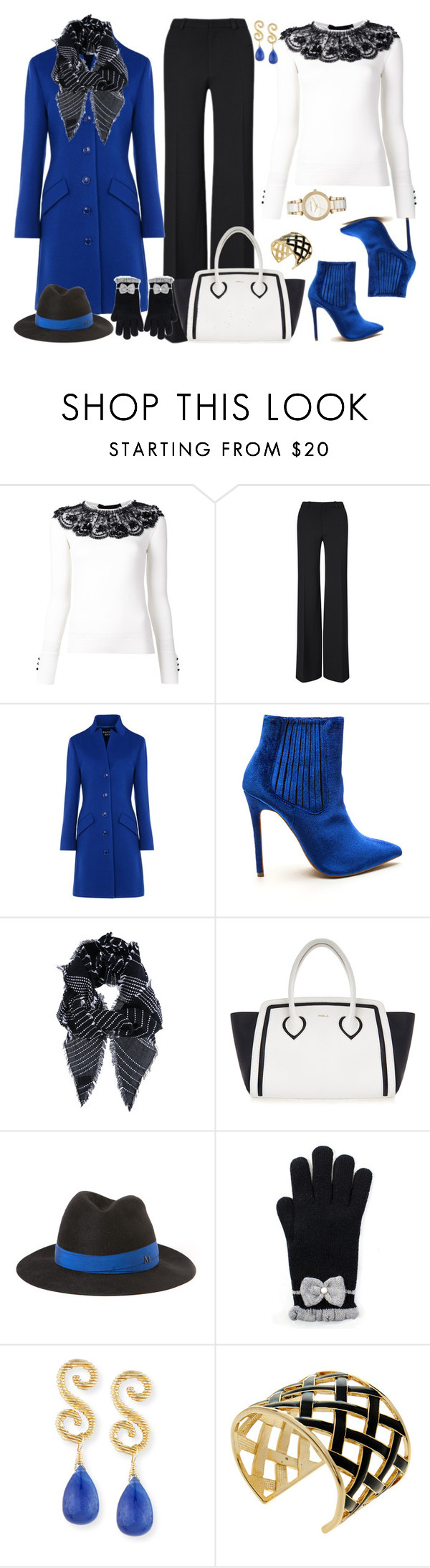 """Untitled #3185"" by emmafazekas ❤ liked on Polyvore featuring Oscar de la Renta, Roland Mouret, Boutique Moschino, Furla, Maison Michel, Splendid, Kenneth Jay Lane and Michael Kors"