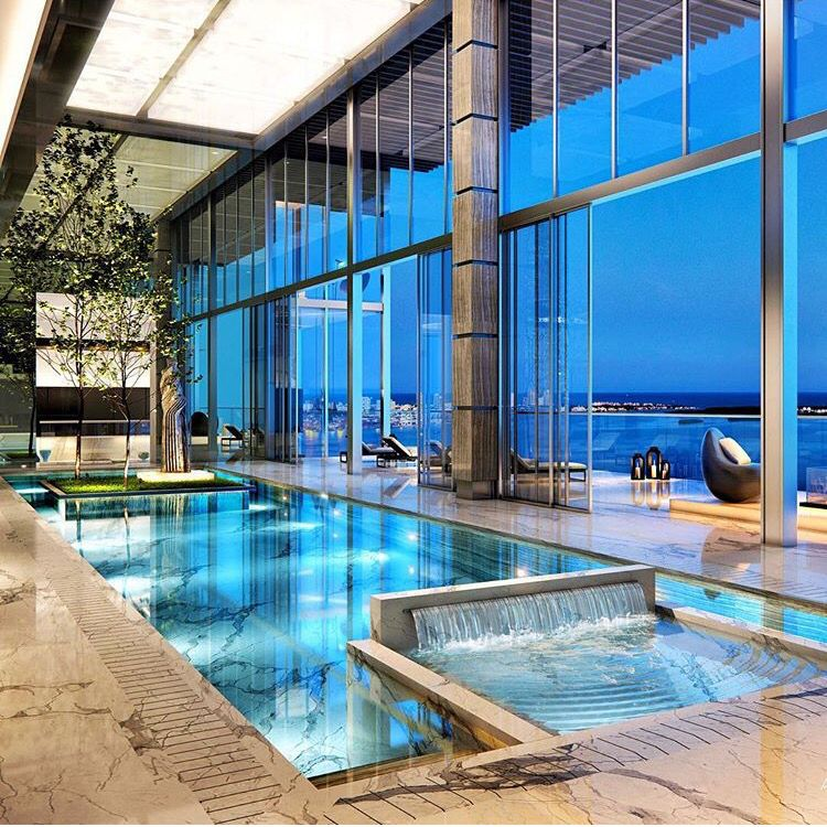 Penthouse pool in miami brickell photo by dpatron for Pool design miami