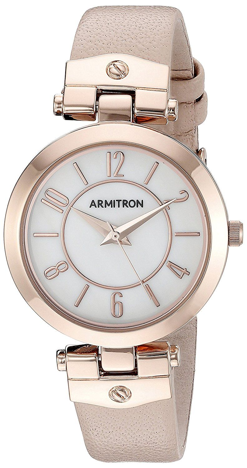 Armitron womens 755338 leather strap watch to view