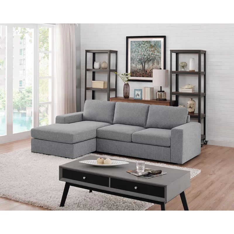 Cheryle Reversible Sectional With Images Livingroom Layout