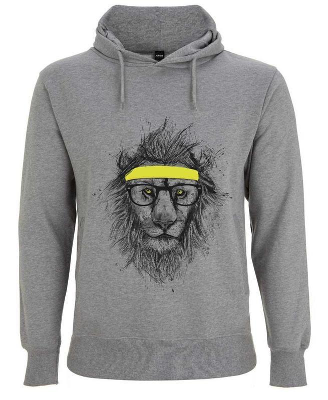 Hipster Lion en Sweat à capuche homme par Balázs Solti   JUNIQE ... b23924c79b9