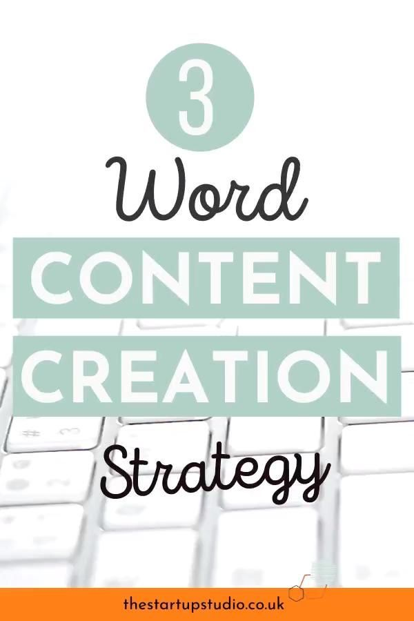 Your 3 Word Content Creation Strategy — The Start-