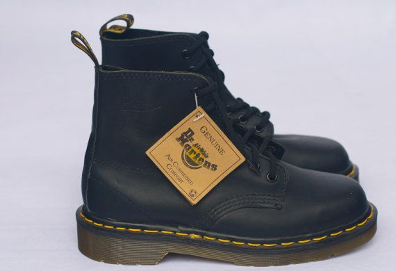 Dr. Martens 8175 New Old Stock 6-Eye Black by Thespiffjunction