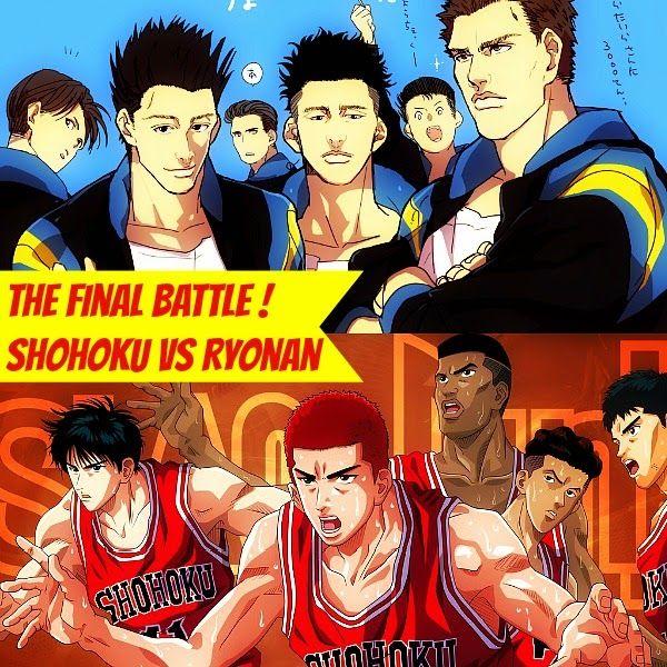The Final Battle Between Shohoku And Ryonan To Qualify For