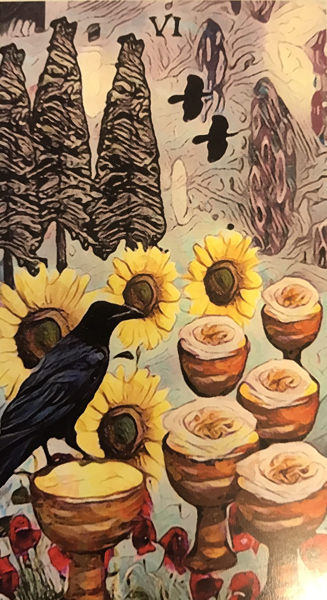 Featured card of the day 6 of cups crow tarot by mj