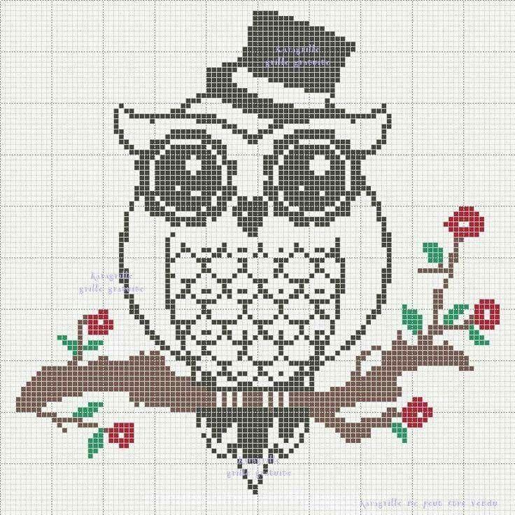 Buhito | Patrones de punto de cruz | Pinterest | Owl, Cross stitch ...