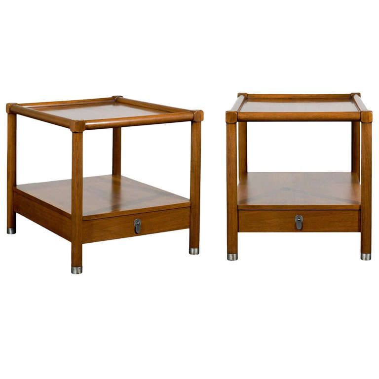 ba933bc99603 Handsome Pair of American of Martinsville End Tables in the Style of  Micheal Taylor
