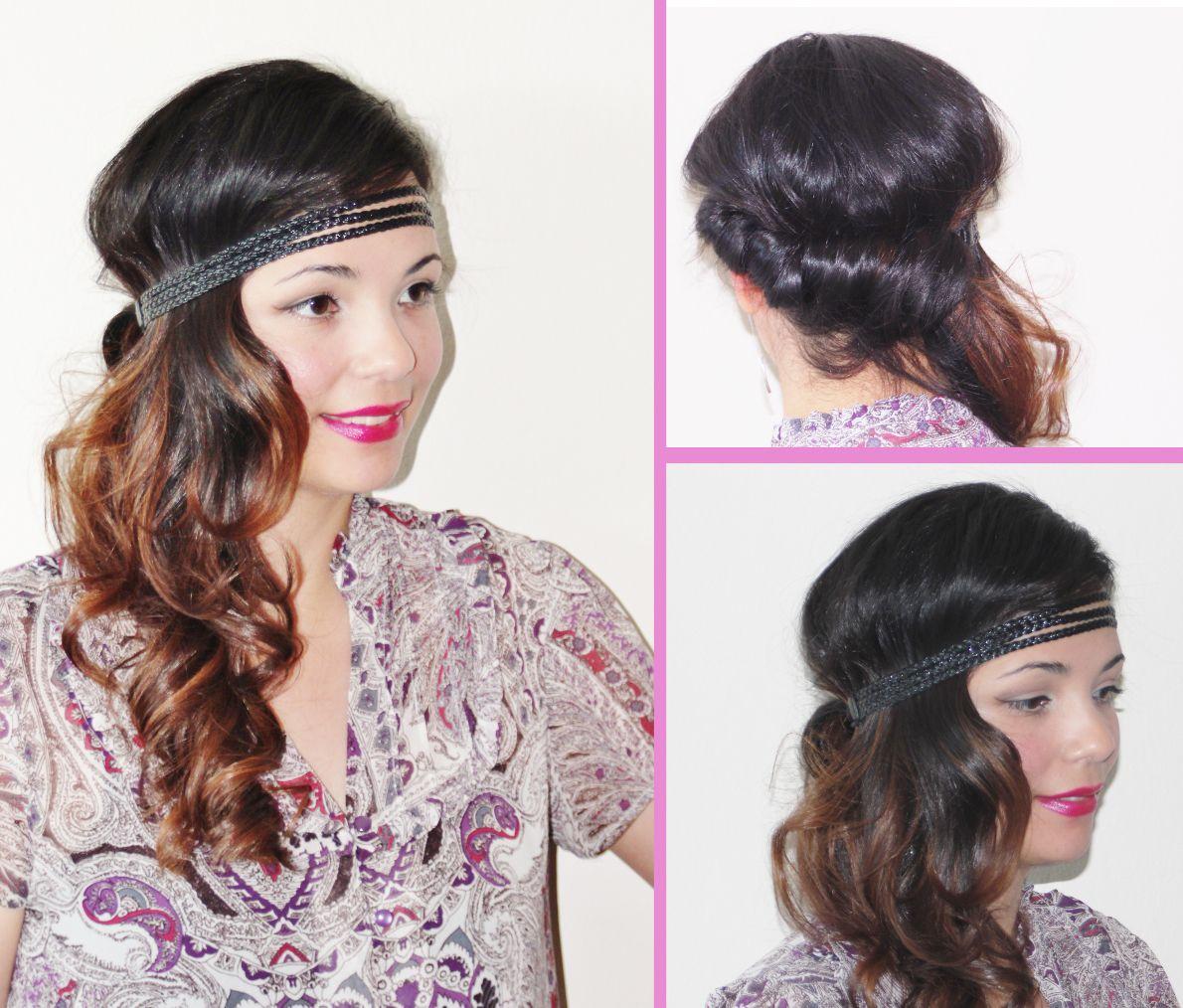 Wavy Side Curls With A Headband!
