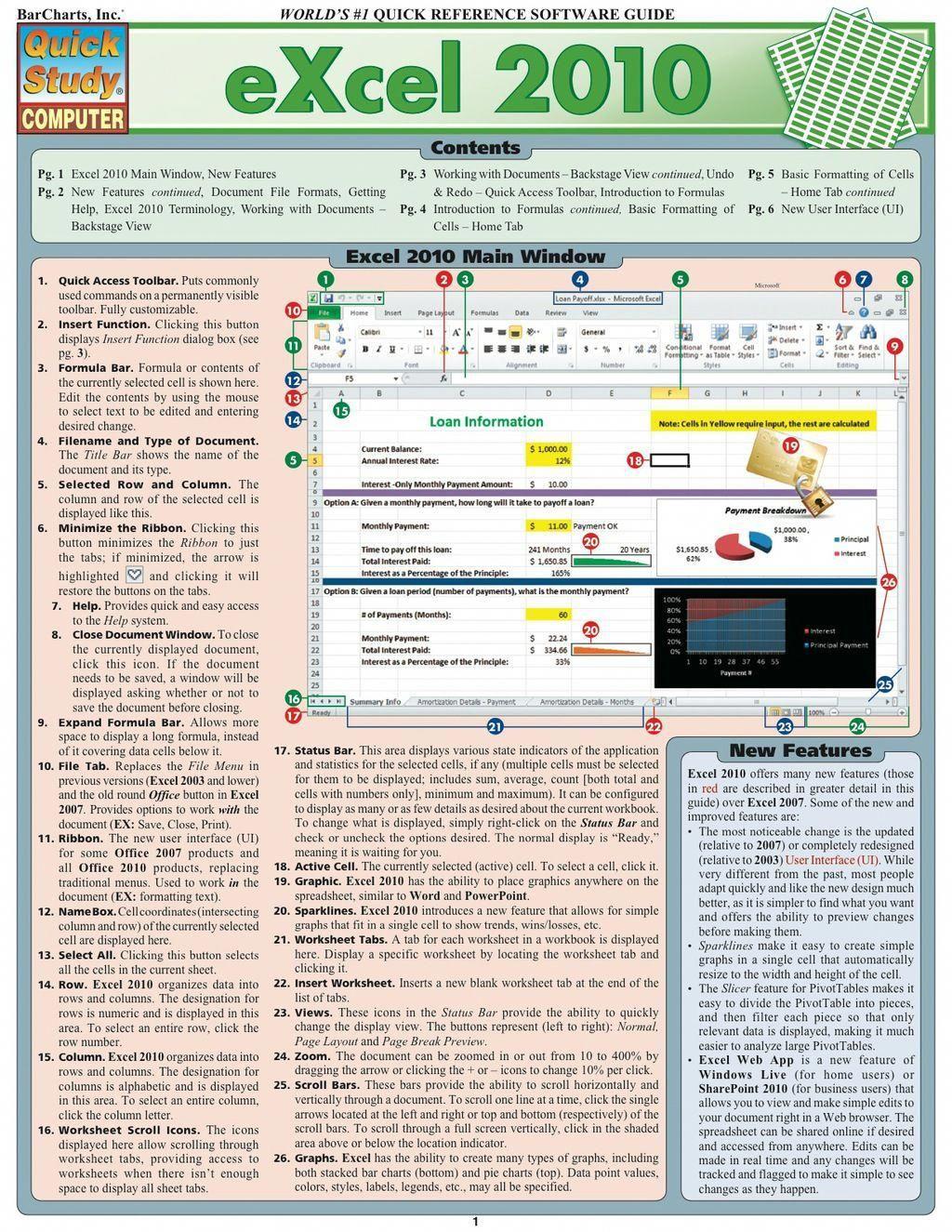 Excel 2010 (eBook) malwareremoval Excel tutorials
