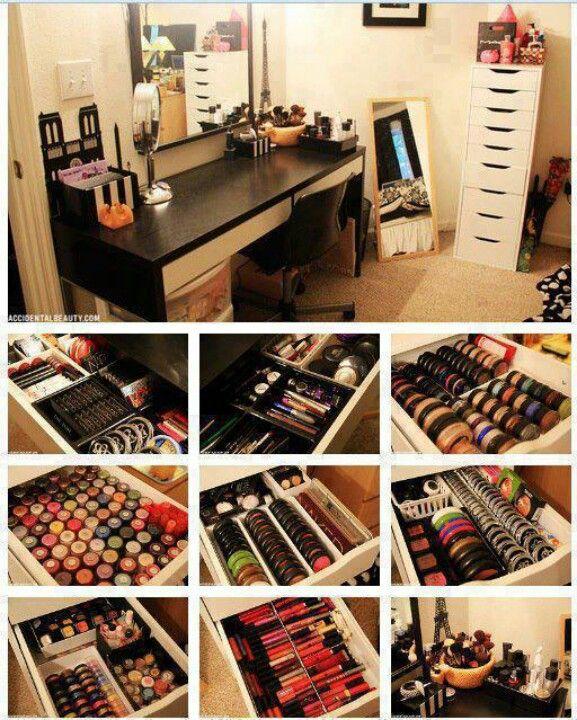 Makeup vanity Makeup organization, Beauty room, Makeup