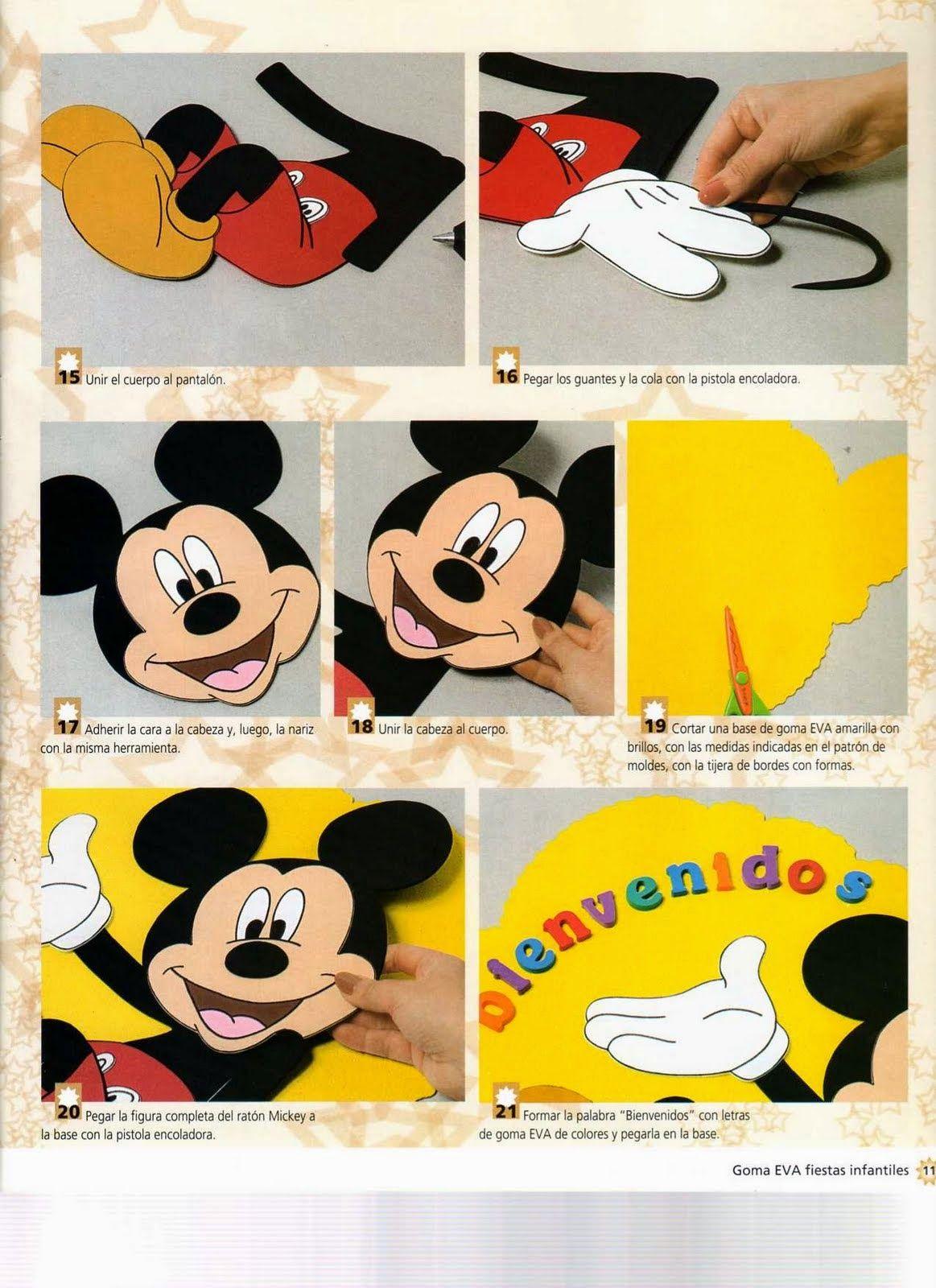 Moldes mickey mouse en foamy | Mickey Mouse | Pinterest | Mickey ...