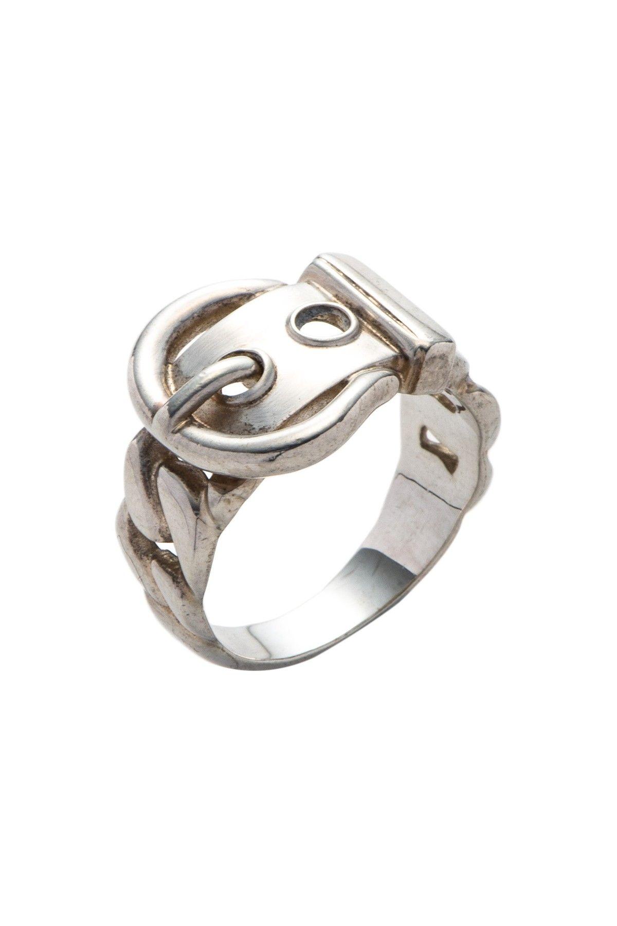 3368419b8a69c Vintage Hermes Silver 925 Belt Ring | needful things | Jewelry ...