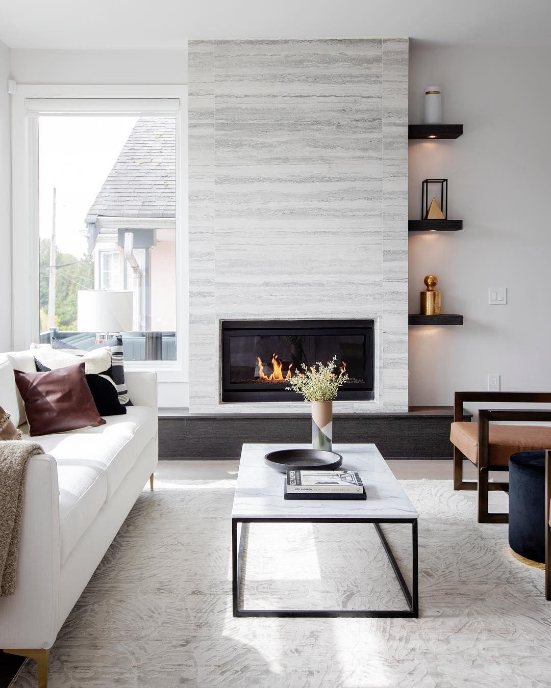 Nice Living Rooms Designs: Stunning Modern Living Room. Nice Clean Lines! #Regram Via