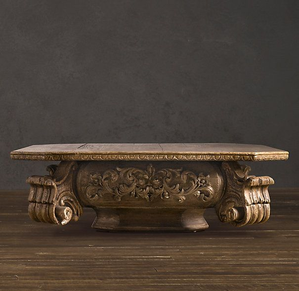 Baroque Capital Coffee Table - reproduced from a vintage capital that once crowned a column in an old theater.