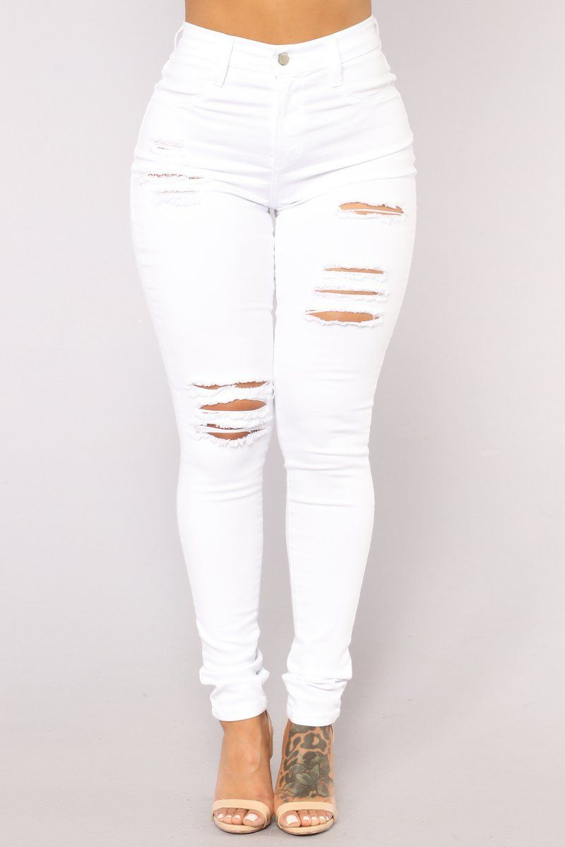 d7135730171 Tighty Whitey Distressed Skinny Jeans - White   Pants in 2019 ...
