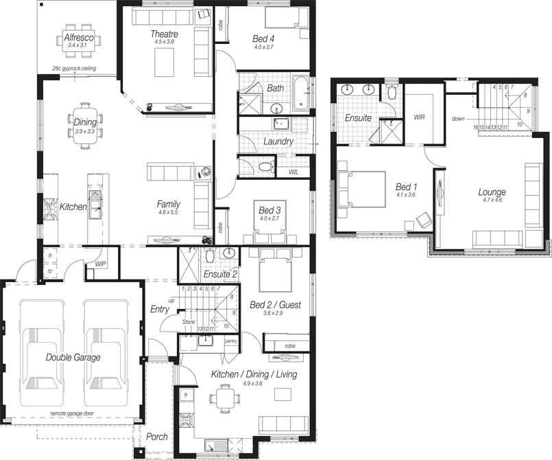 New Home Designs | Two Storey Homes | The Everest | Ross North Homes ...