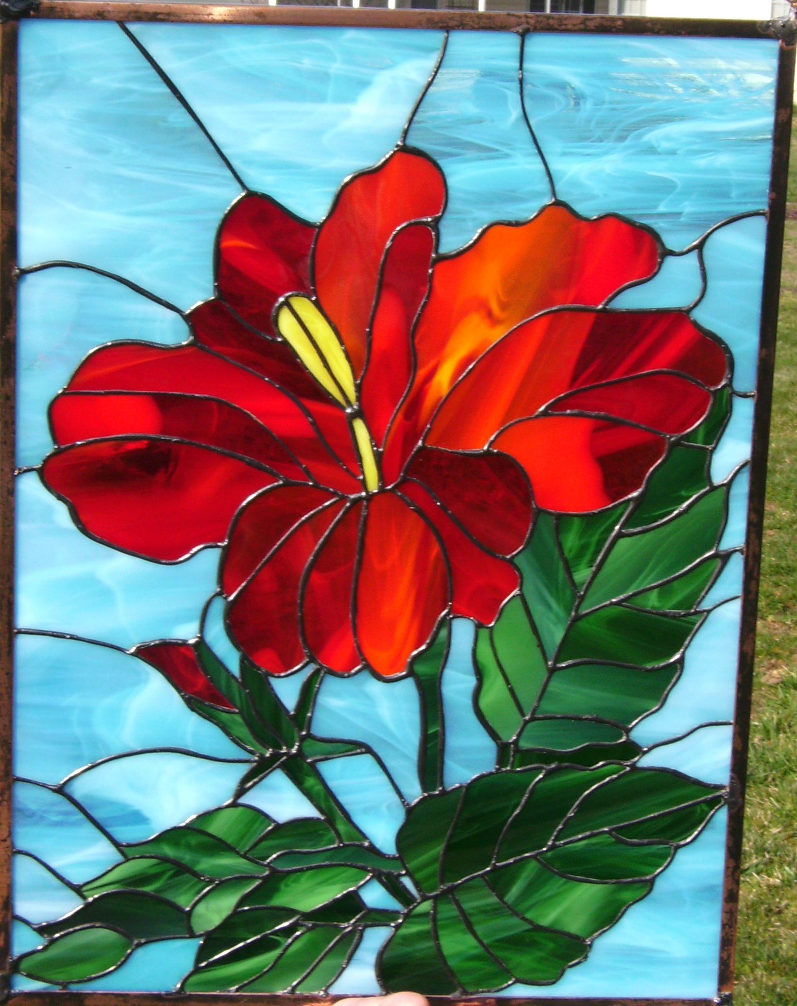 Hibiscus Stained Glass Flowers Stained Glass Flowers Stained