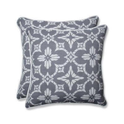 Pillow Perfect Aspidoras Indoor / Outdoor Throw Pillow - Set of 2 - 609300
