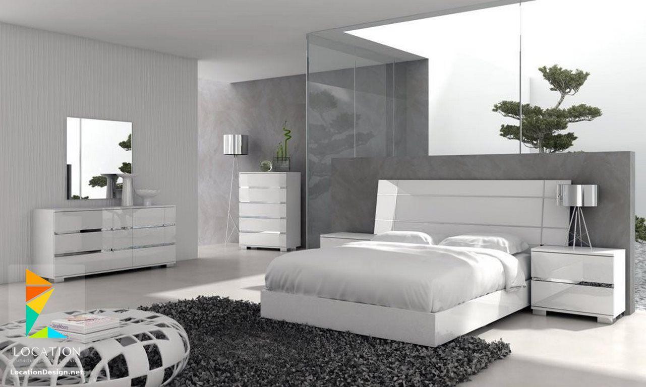 غرف نوم مودرن للعرسان Modern Bedrooms Furniture White