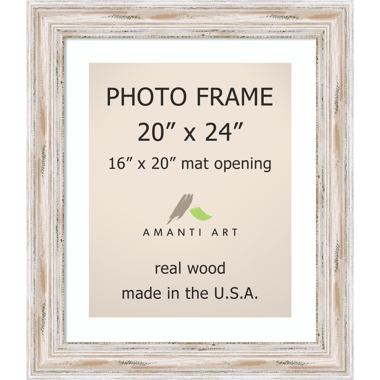 Alexandria Whitewash Photo Frame 20x24 Matted To 16x20 25 X 29