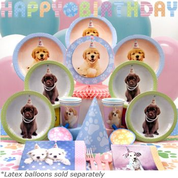 Puppy Party And Dog Party Ideas And Supplies Dog Birthday Party Dog Themed Birthday Party Birthday Party Theme Decorations