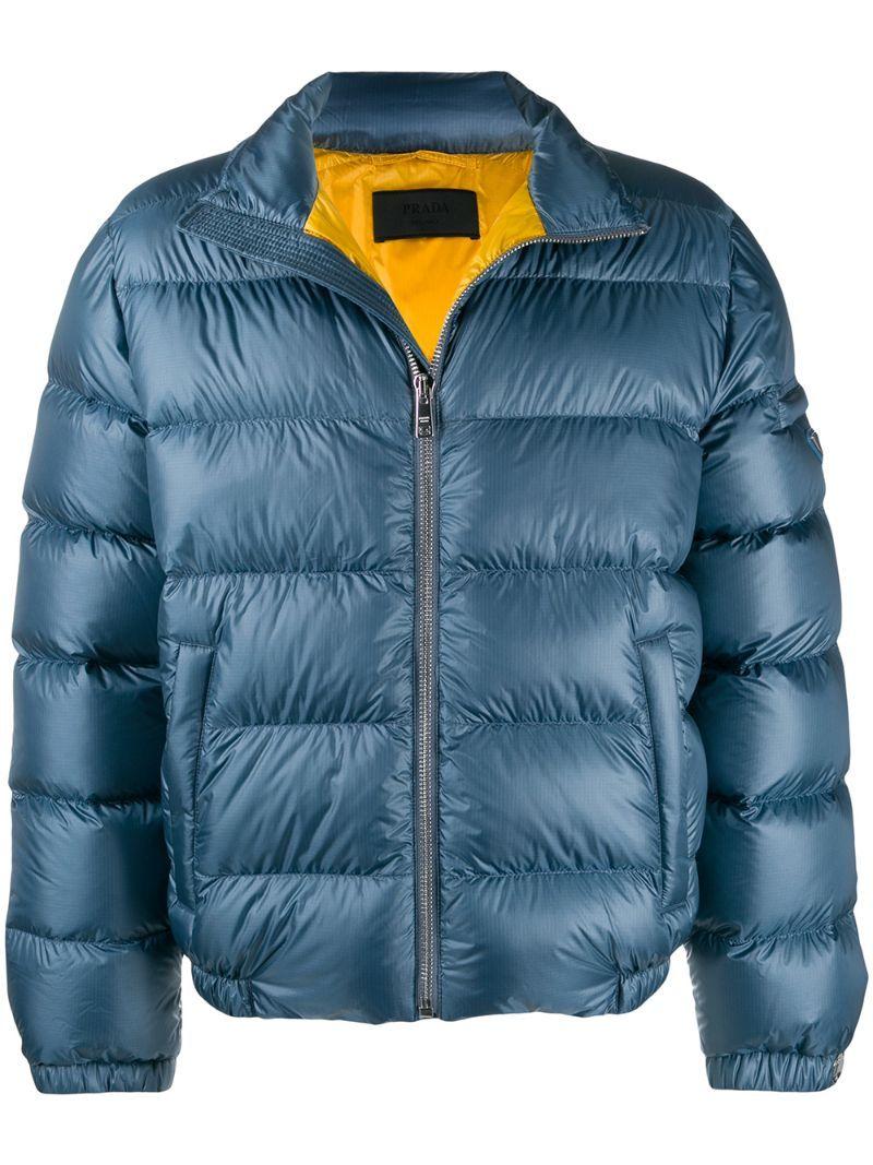 Prada Jackets Prada Zip Up Puffer Jacket Blue Prada Jackets Puffer Jackets Zip Ups Jackets [ 1067 x 800 Pixel ]