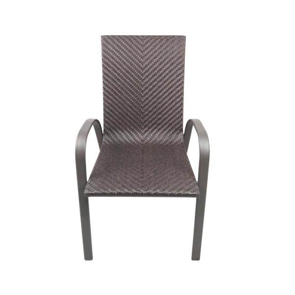 Mix And Match Stackable Sling Outdoor Dining Chair In Ruby Fcs70391 Ruby The Home De Outdoor Dining Chairs Outdoor Wicker Rocking Chairs Lounge Chair Outdoor