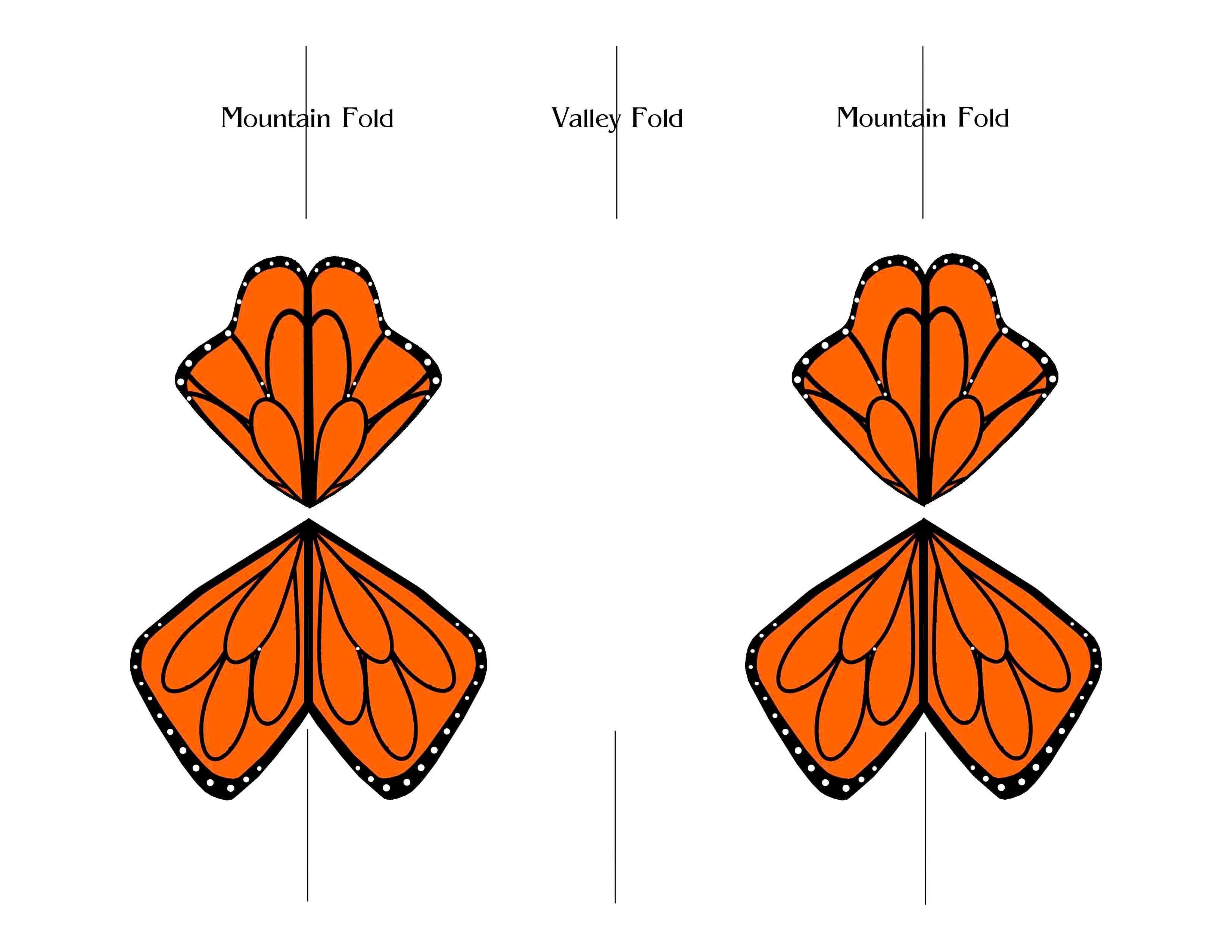 Fluttering Monarch Butterfly Flying Butterfly Card Paper Butterfly Paper Butterflies