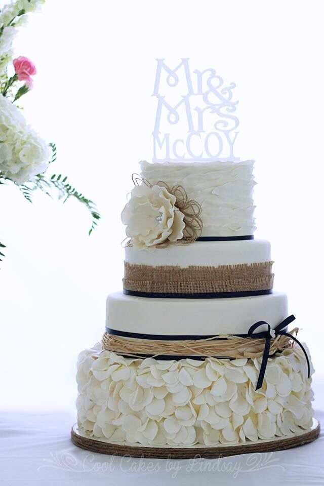 Easy Rustic Wedding Cake