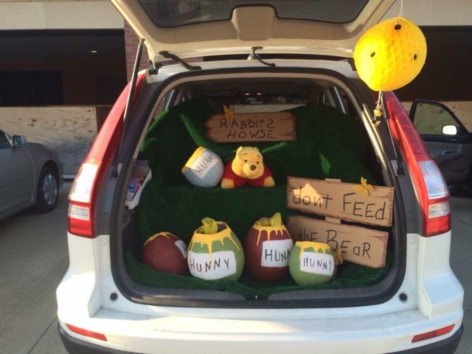 Winnie the Pooh trunk-or-treat #trunkortreatideasforcarsforchurch
