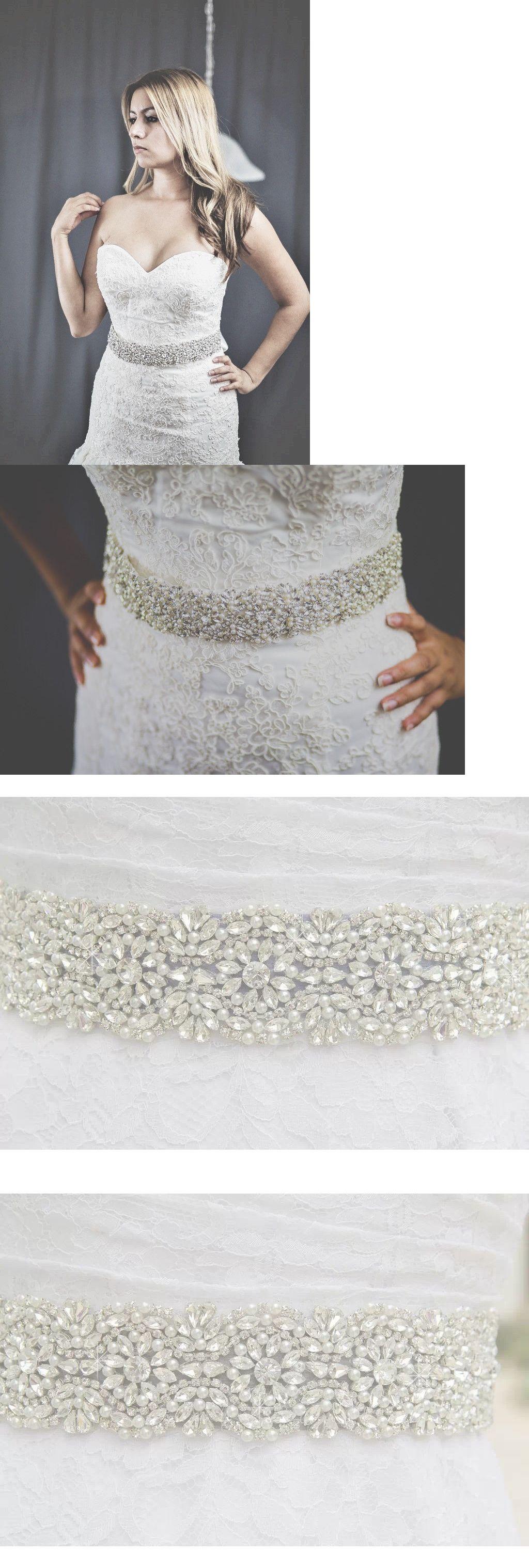 Pearl belt for wedding dress  Other Bridal Accessories  Wedding Bridal Sash Belt Crystal