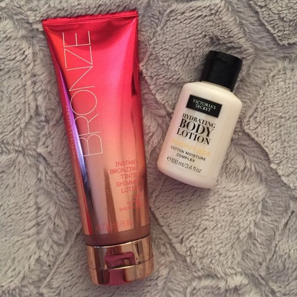Victoria's Secret instant bronze lotion & mini Get that bronzed bod you've always wanted & keep it hydrated afterward  Victoria's Secret Other