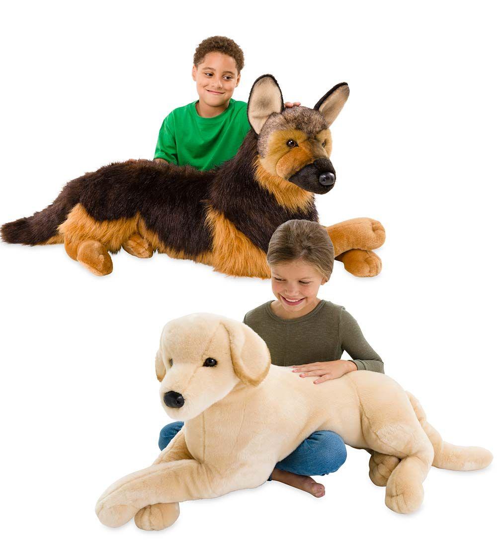 Big As Life Plush Dogs Blue Hearthsong Dogs And Kids Plush Dog Big Stuffed Animal [ 1100 x 1000 Pixel ]