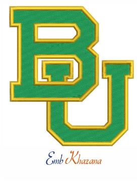 Baylor Bears Logo Embroidery Design Baylor Bears Logo Bear Logo Design College Logo