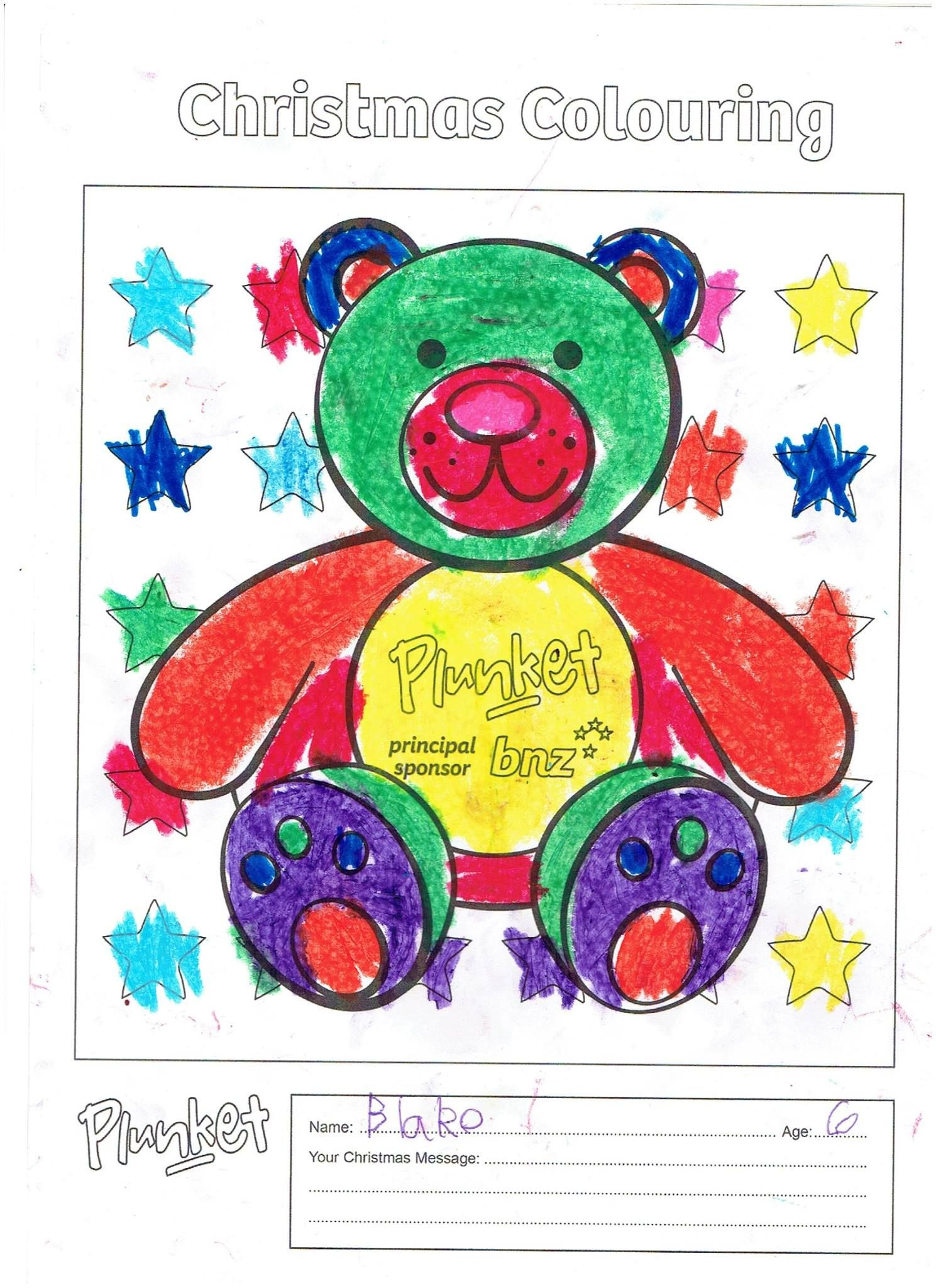 Blake 6 years old 6 year old christmas colors product page colouring