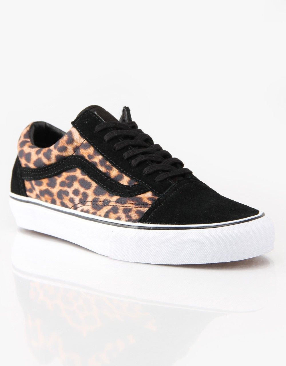 4c6ef2a176 Vans Old Skool Skate Shoes - Leopard Black from Route One