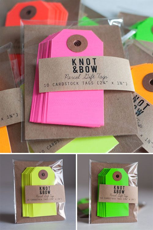 Neon Pink Parcel Gift Tags Set Of 10 Blasts Of Neon Pinterest