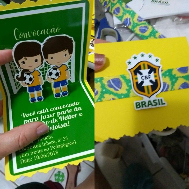 Convite Da Festa Da Copa Do Mundo De Heitor Convite De Festa