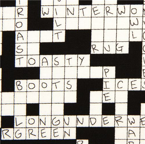 Black White Crossword Puzzle Fabric By Alexander Henry Black And White Crossword Fabric