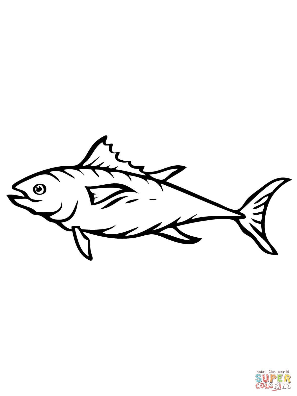 Tuna Fish Coloring Page Youngandtae Com Fish Coloring Page Mermaid Coloring Pages Easy Coloring Pages