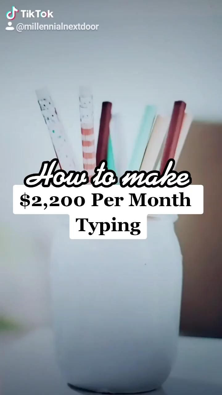 How to make $2200 per month from typing