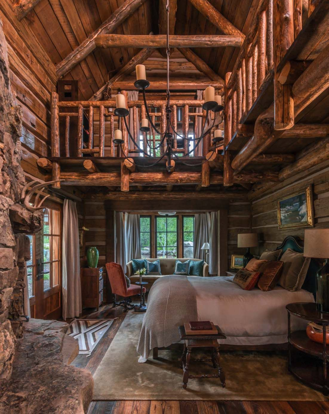 35+ log cabin style bedrooms to make you drool