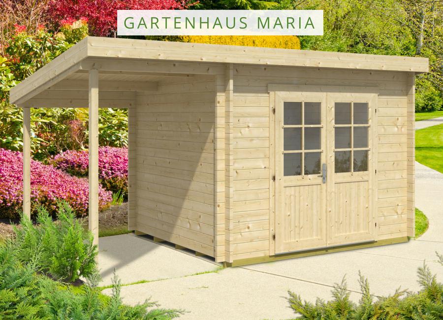 Pultdach Gartenhaus Modell Maria (ISO) mit Schleppdach