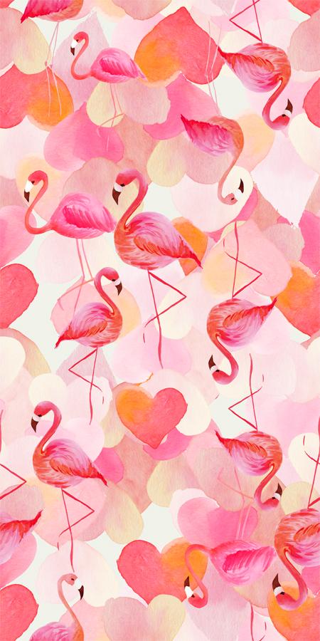 Estampa Flamingos Final Flamingo Papel De Parede Celular